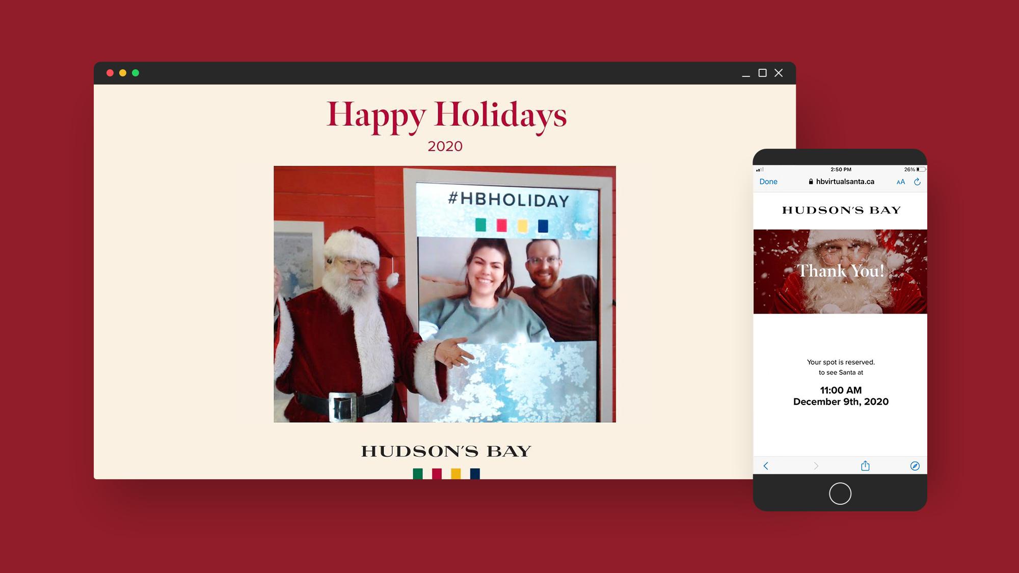Hudson's Bay Virtual Santa