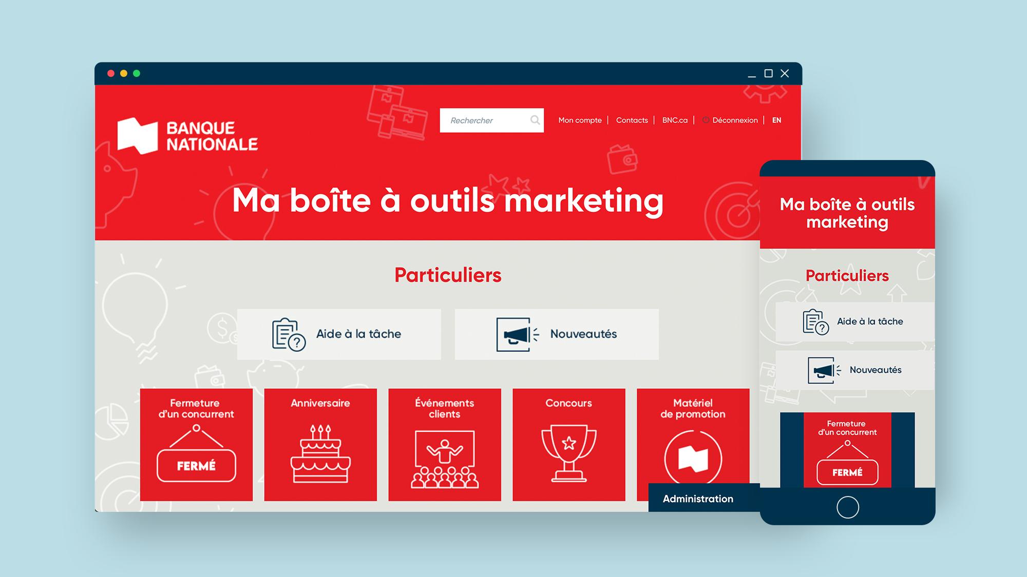 Banque Nationale - Boite a outils - Contenu numerique